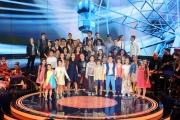 12/09/2015 Roma prima puntata della trasmissione di rai uno TI LASCIO UNA CANZONE, nella foto tutti i ragazzi partecipanti