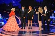 12/09/2015 Roma prima puntata della trasmissione di rai uno TI LASCIO UNA CANZONE, nella foto Antonella Clerici e la giuria