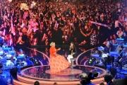 12/09/2015 Roma prima puntata della trasmissione di rai uno TI LASCIO UNA CANZONE, nella foto Martina Stoessel con Antonella Clerici