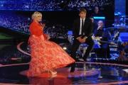 12/09/2015 Roma prima puntata della trasmissione di rai uno TI LASCIO UNA CANZONE, nella foto Antonella Clerici e Antonio Conte