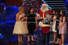 trasmissione natalizia in onda il 23/12/2011 di TI LASCIO UNA CANZONE speciale Natale, nella foto Antonella Clerici e Francesco Facchinetti versione Babbo Natale 27/11/2011 Roma