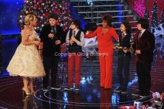trasmissione natalizia in onda il 23/12/2011 di TI LASCIO UNA CANZONE speciale Natale, nella foto Antonella Clerici e Orietta Berti 27/11/2011 Roma