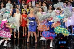 15/02/2014 Roma terza puntata di Ti lascio una canzone,nella foto Antonella Clerici