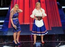 15/02/2014 Roma terza puntata di Ti lascio una canzone,nella foto Antonella Clerici e Michelle Hunziker