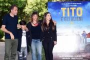 Foto/IPP/Gioia Botteghi 04/06/2018 Roma, Presentazione del film Tito e gli alieni, nella foto: PAOLA RANDI con VALERIO MASTANDREA, LUCA ESPOSITO, CHIARA STELLA RICCIO  Italy Photo Press - World Copyright