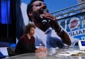 Foto/IPP/Gioia Botteghi Roma 12/01/2020 trasmissione rai3 Mezz'ora in più ospite di Lucia Annunziata, nella foto:  Mattia Santori Italy Photo Press - World Copyright