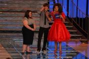 15/09/07 Prima puntata di IL TRENO DEI DESIDERI condotto da Antonella Clerici con lei nella foto Zac Efron e Nikki Blonsky protagonisti del film Hair Spray