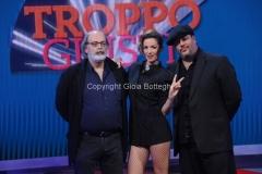14/11/2014 Roma nuovo programma di raidue per otto puntate a partire da venerdì prossimo seconda serata, TROPPO GIUSTI, nella foto: Marco Giusti, Andrea Delogu, GMax