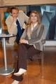 Gioia Botteghi/OMEGA 15/12/05TUTTO BENESSERE Daniela Rosati nel suo studio tv  con il giornalista Leonardo Metalli
