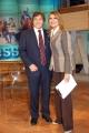 Gioia Botteghi/OMEGA 15/12/05TUTTO BENESSERE Daniela Rosati nel suo studio tv  con il prof. Antonio Giordano