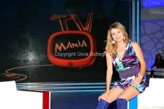 Roma 10/10/2010 Prima puntata di Tv mania , raidue , i conduttori Simone Annichiarico e Angela Melillo