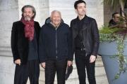 Foto/IPP/Gioia Botteghi Roma13/02/2019 Presentazione del film Un'avventura, nella foto: Mogol ( Giulio Rapetti ) con Pivio e Diodato Italy Photo Press - World Copyright
