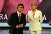 25/01/08 prima puntata della trasmissione di raiuno UOMO E GENTILUOMO nella foto : Milly Carlucci con Kristian Ghedina