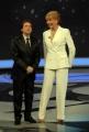 25/01/08 prima puntata della trasmissione di raiuno UOMO E GENTILUOMO nella foto : Milly Carlucci con Nino D'Angelo