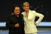 25/01/08 prima puntata della trasmissione di raiuno UOMO E GENTILUOMO nella foto : Milly Carlucci con Albano