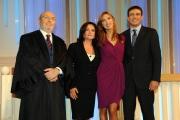 Roma 7/09/2009 _Verdetto finale_ Veronica Maia raiuno con gli avvocati Maria Chiara Cudillo e Daniele Castaldi ed il giudice Domenico De Bonis