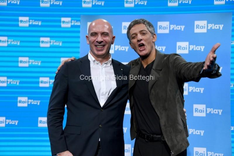 Foto/IPP/Gioia Botteghi Roma 28/10/2019 Presentazione del programma di Rosario Fiorello Vivaraiply con lui  Fabrizio Salini Italy Photo Press - World Copyright