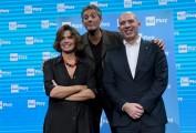 Foto/IPP/Gioia Botteghi Roma 28/10/2019 Presentazione del programma di Rosario Fiorello Vivaraiply con lui  Fabrizio Salini, Elena Ceccarelli Italy Photo Press - World Copyright