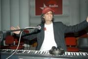 Gioia Botteghi/OMEGA 26/05/05conferenza stampa di fine trasmissione radiofonica W RADIO DUE condotta da Fiorello e Marco Baldini