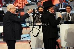 13/11/2016 Roma Domenica in con Pippo Baudo e Chiara Francini ospite: Renato Zero
